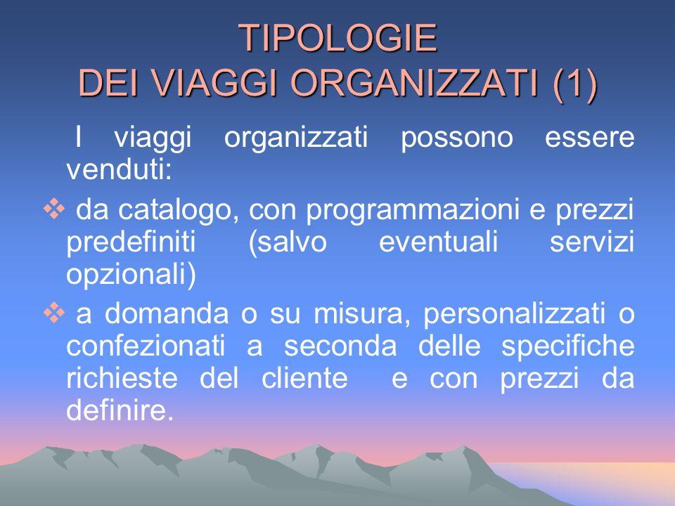 TIPOLOGIE DEI VIAGGI ORGANIZZATI (1)