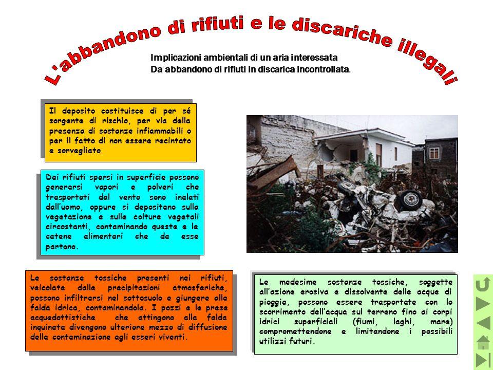 L abbandono di rifiuti e le discariche illegali