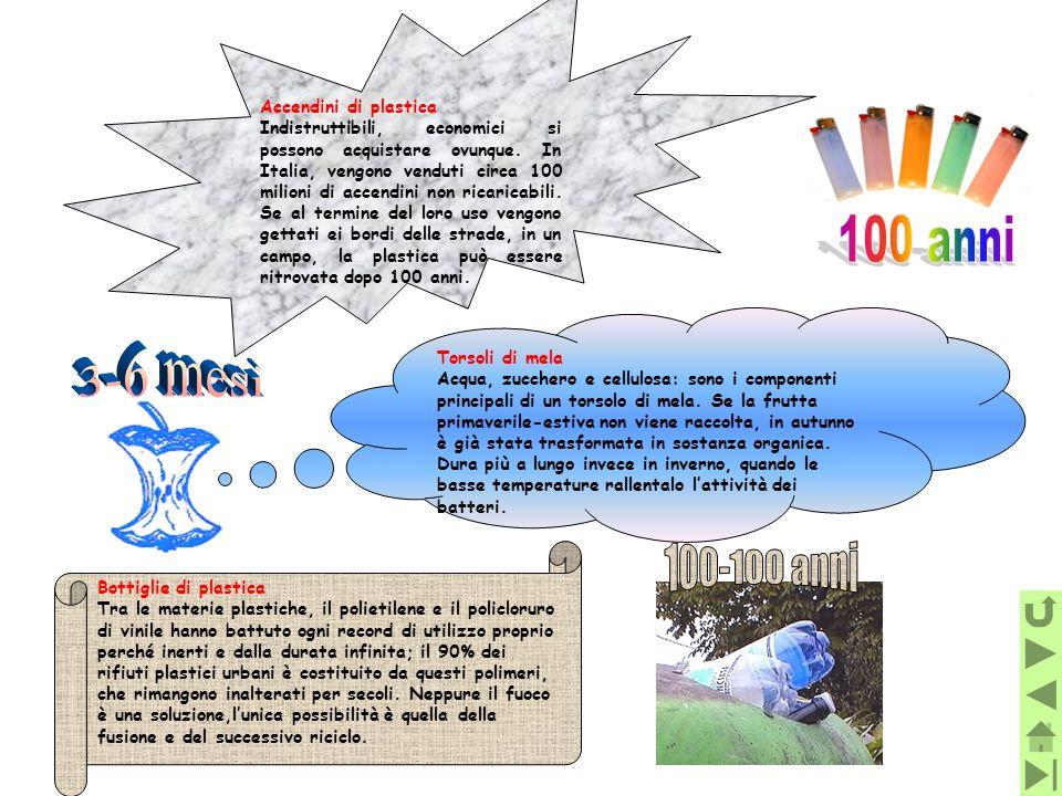 100 anni 3-6 mesi 100-100 anni Accendini di plastica
