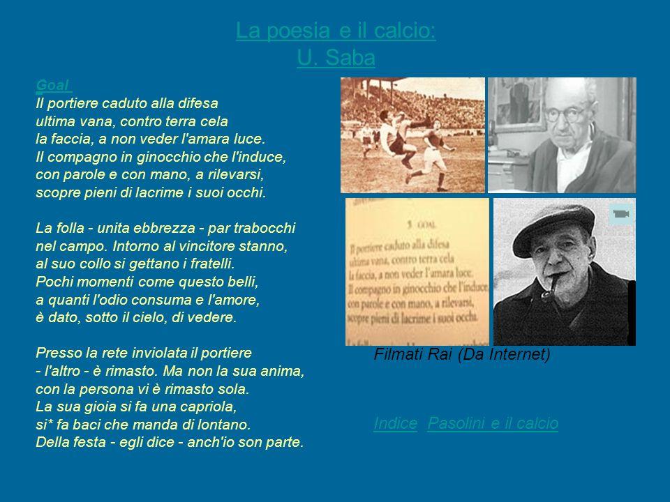 La poesia e il calcio: U. Saba