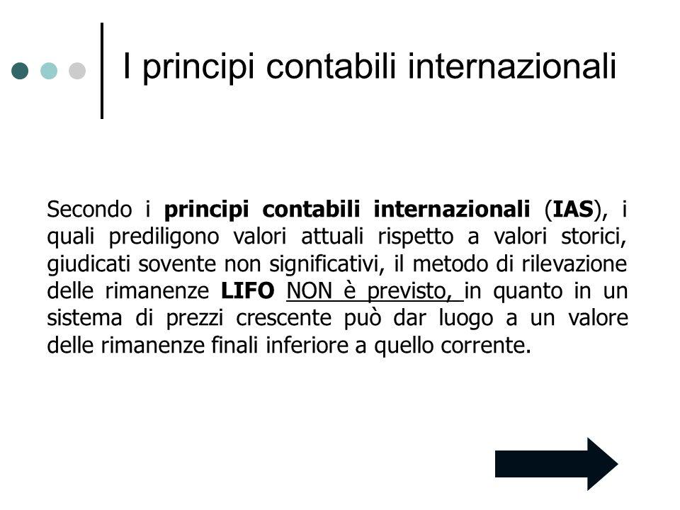 I principi contabili internazionali