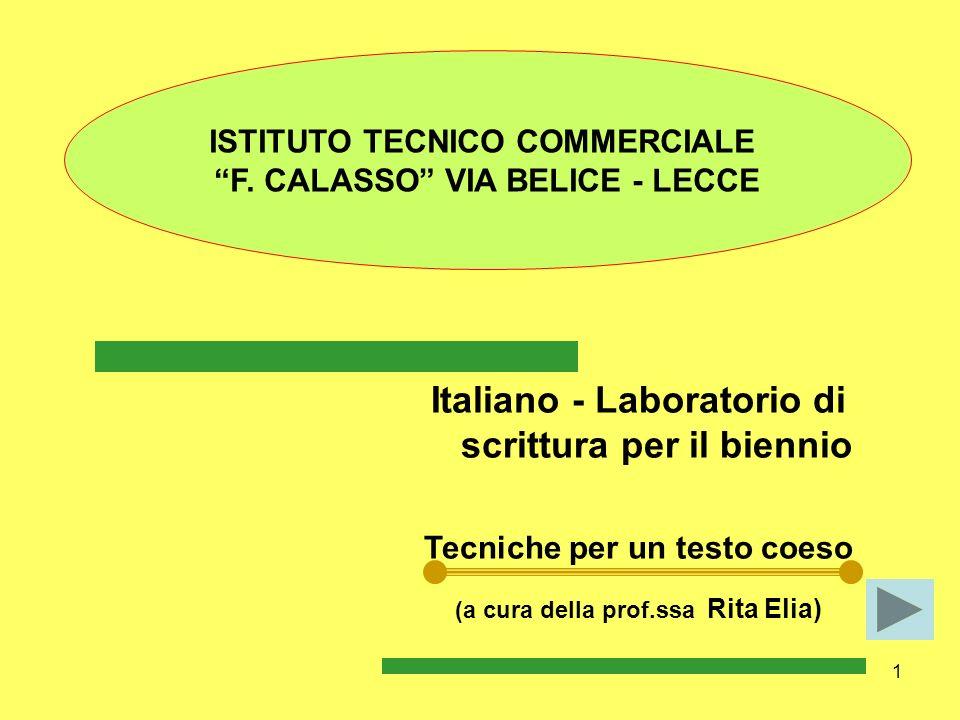 Italiano - Laboratorio di scrittura per il biennio