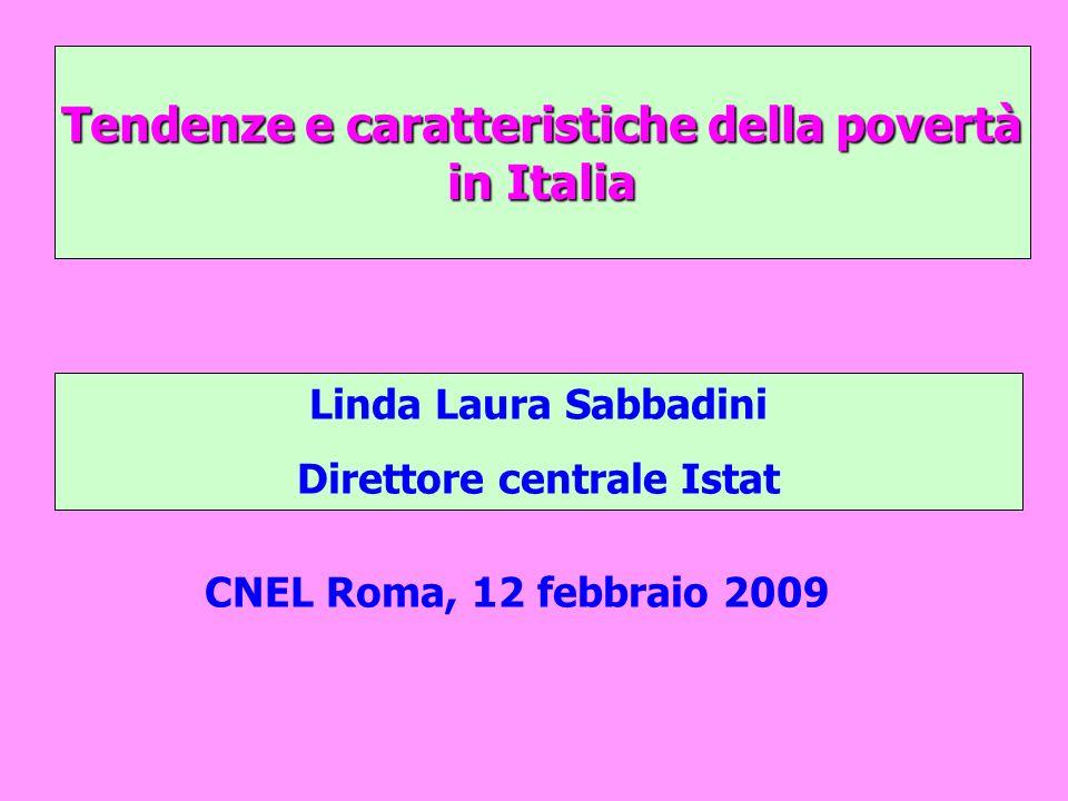 Tendenze e caratteristiche della povertà in Italia