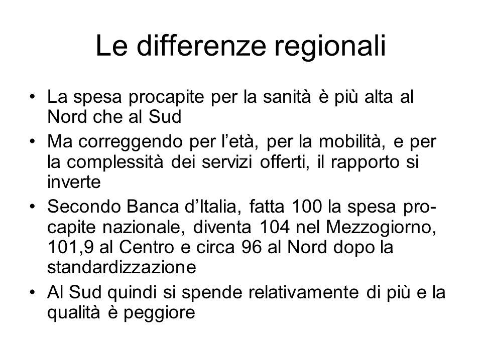 Le differenze regionali