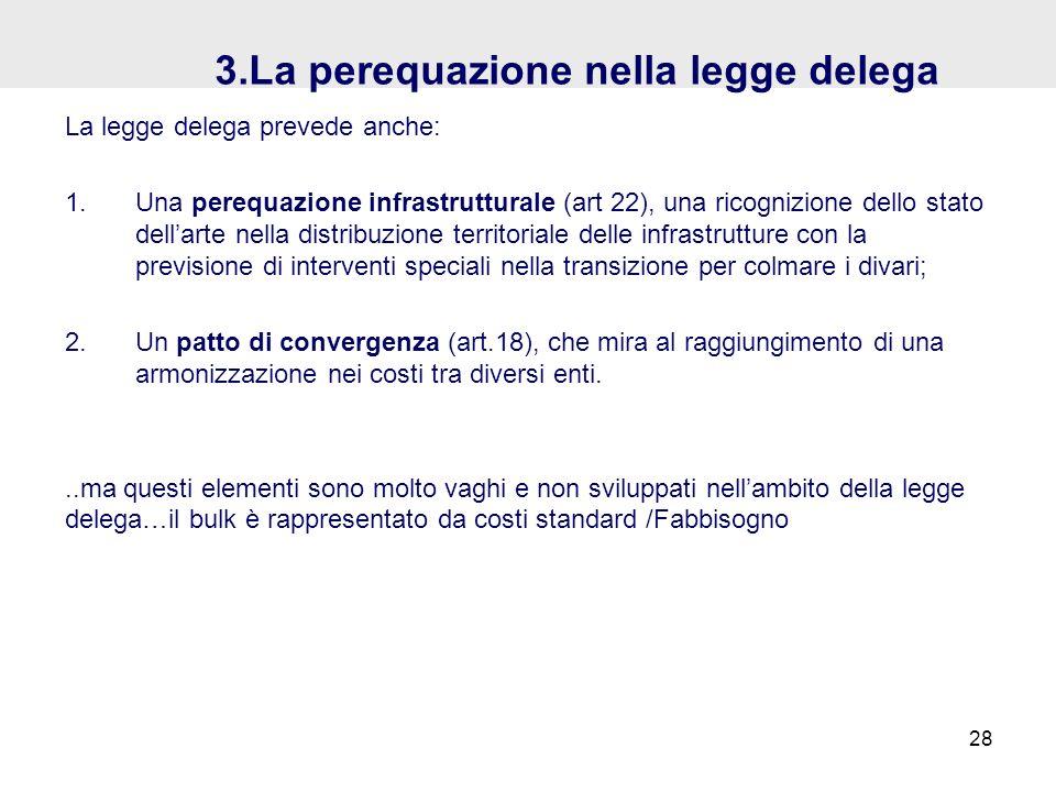 3.La perequazione nella legge delega