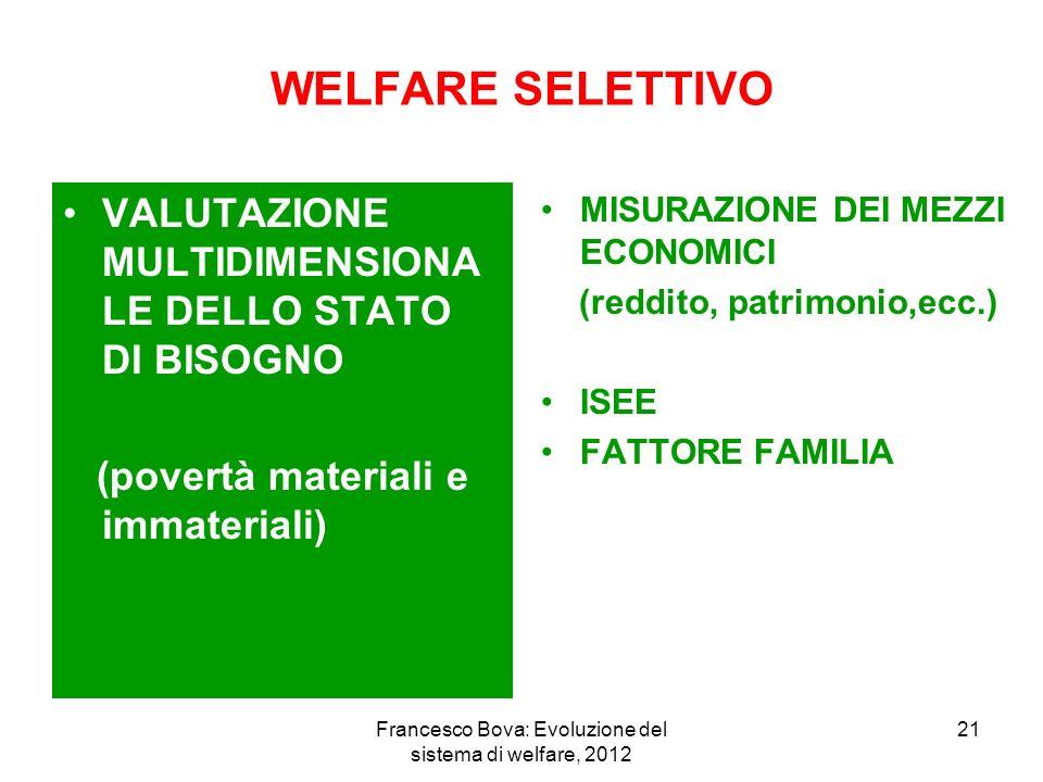 Francesco Bova: Evoluzione del sistema di welfare, 2012