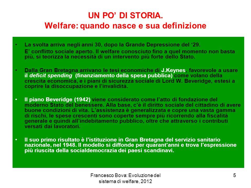 UN PO' DI STORIA. Welfare: quando nasce e sua definizione
