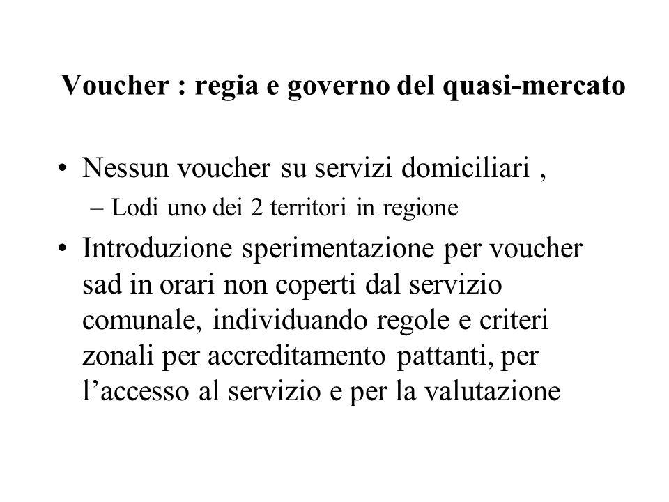Voucher : regia e governo del quasi-mercato