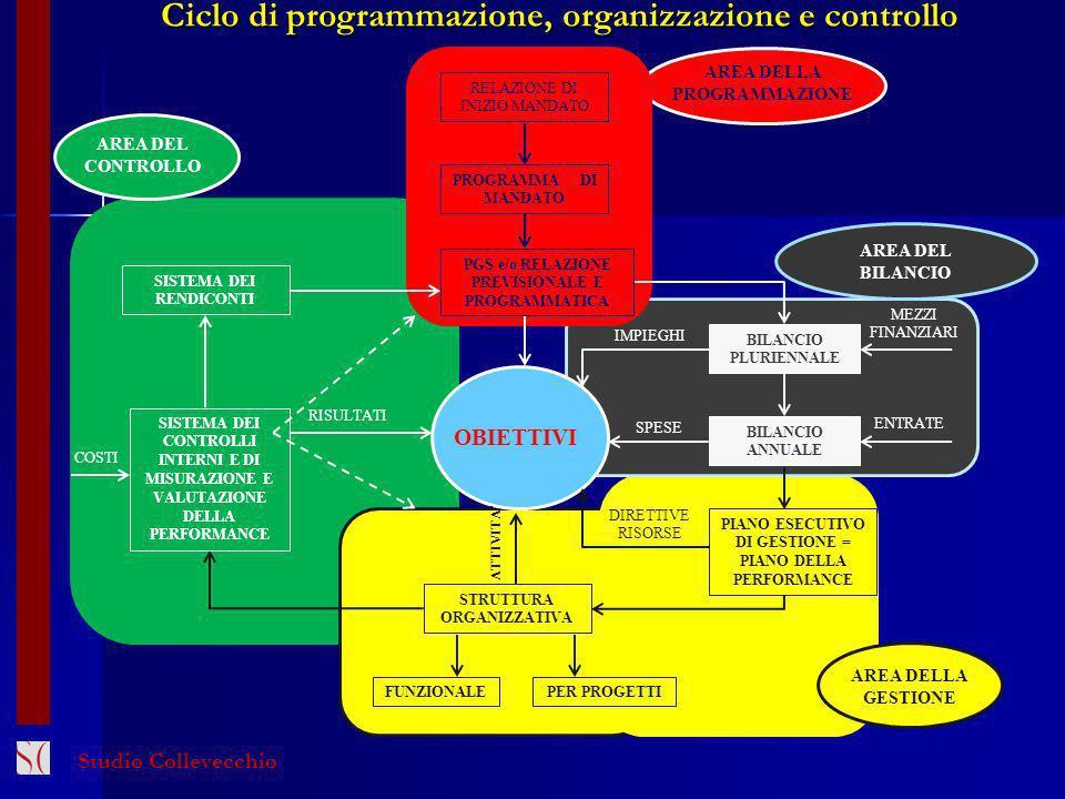 Ciclo di programmazione, organizzazione e controllo