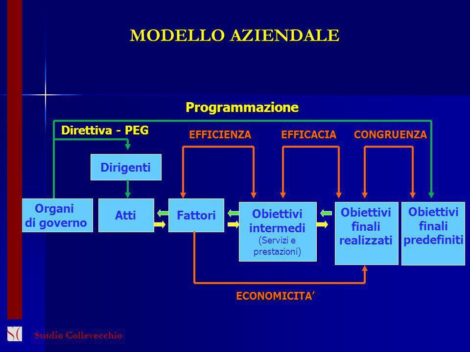 MODELLO AZIENDALE Programmazione Direttiva - PEG Dirigenti Organi