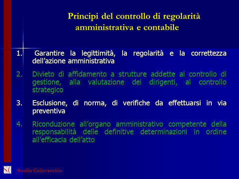 Principi del controllo di regolarità amministrativa e contabile
