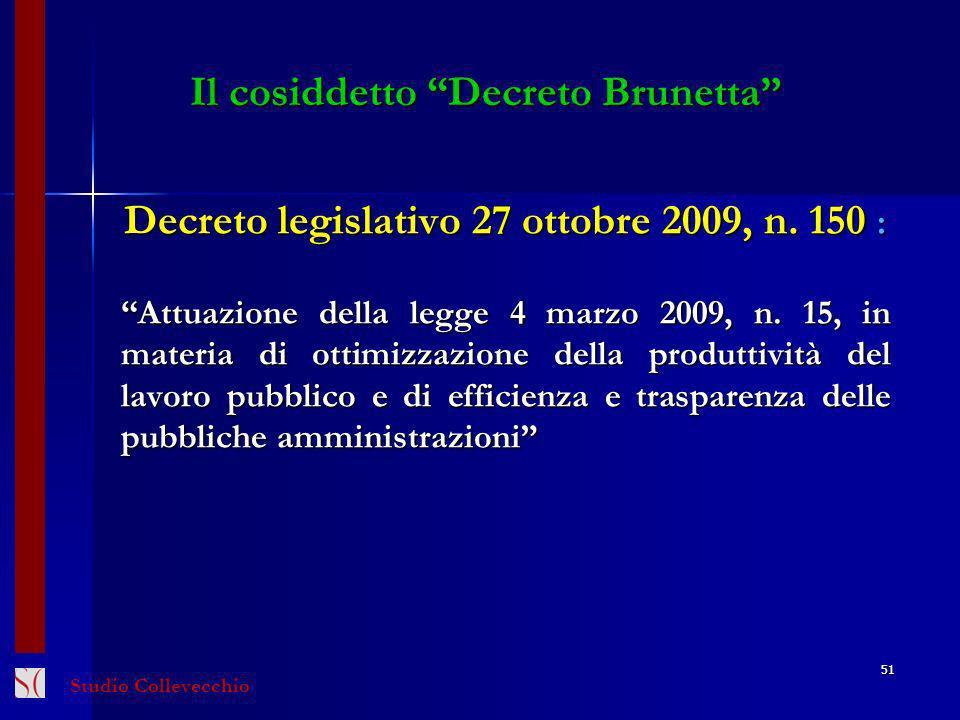 Il cosiddetto Decreto Brunetta