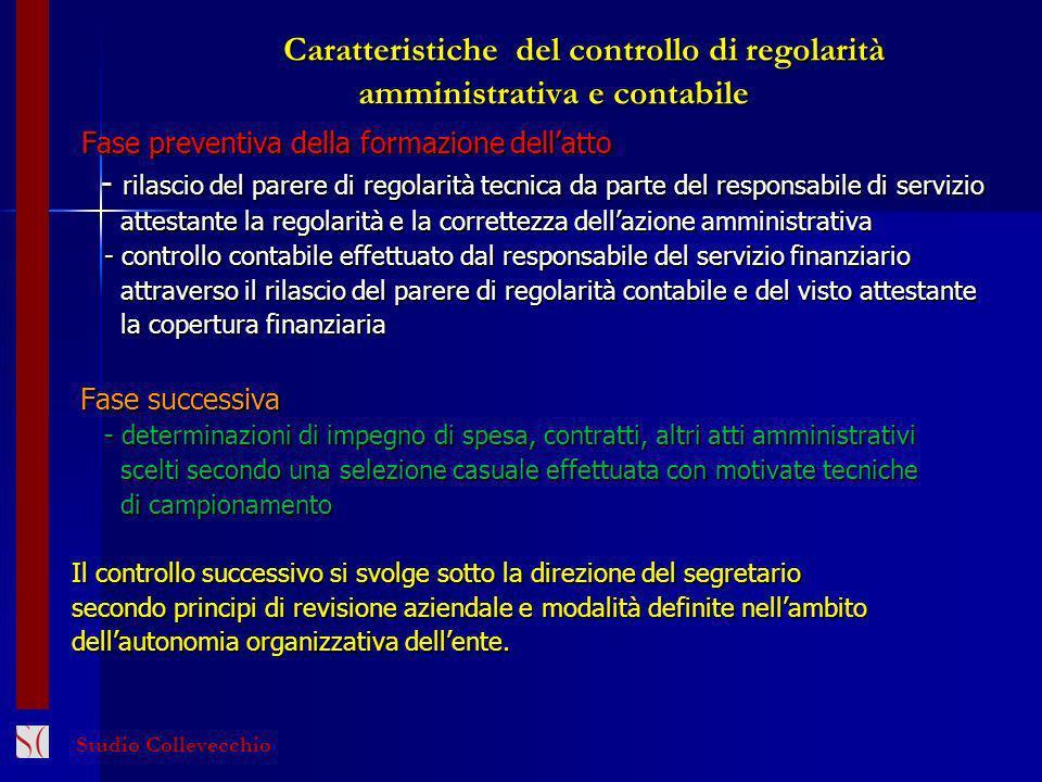 Caratteristiche del controllo di regolarità amministrativa e contabile
