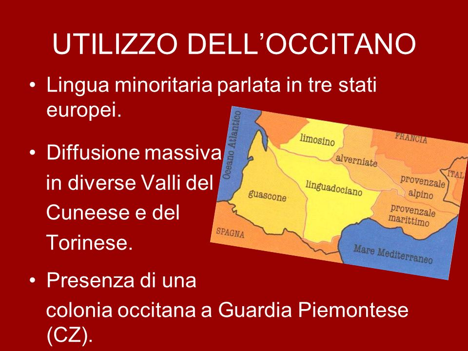UTILIZZO DELL'OCCITANO