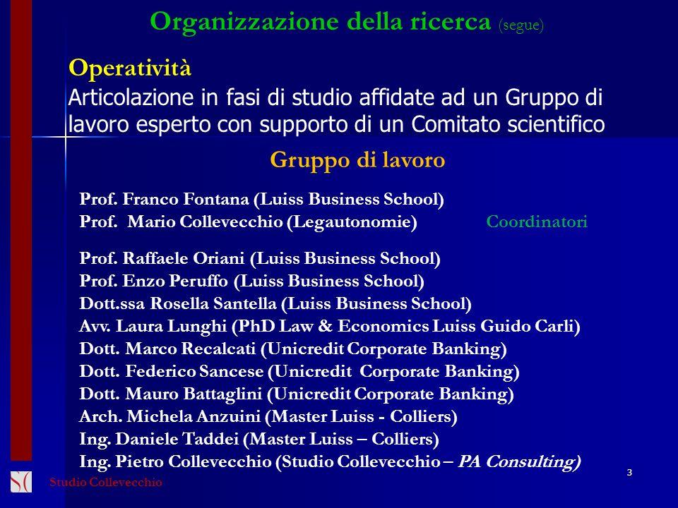 Organizzazione della ricerca (segue)
