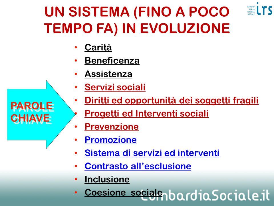 UN SISTEMA (FINO A POCO TEMPO FA) IN EVOLUZIONE