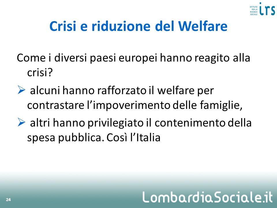 Crisi e riduzione del Welfare