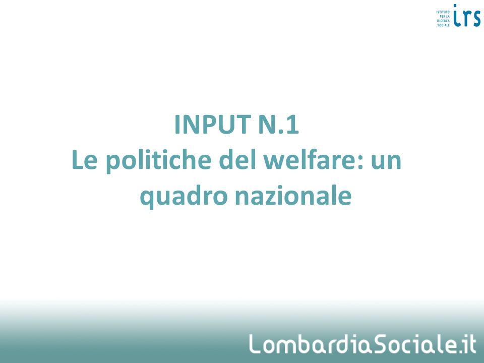 INPUT N.1 Le politiche del welfare: un quadro nazionale