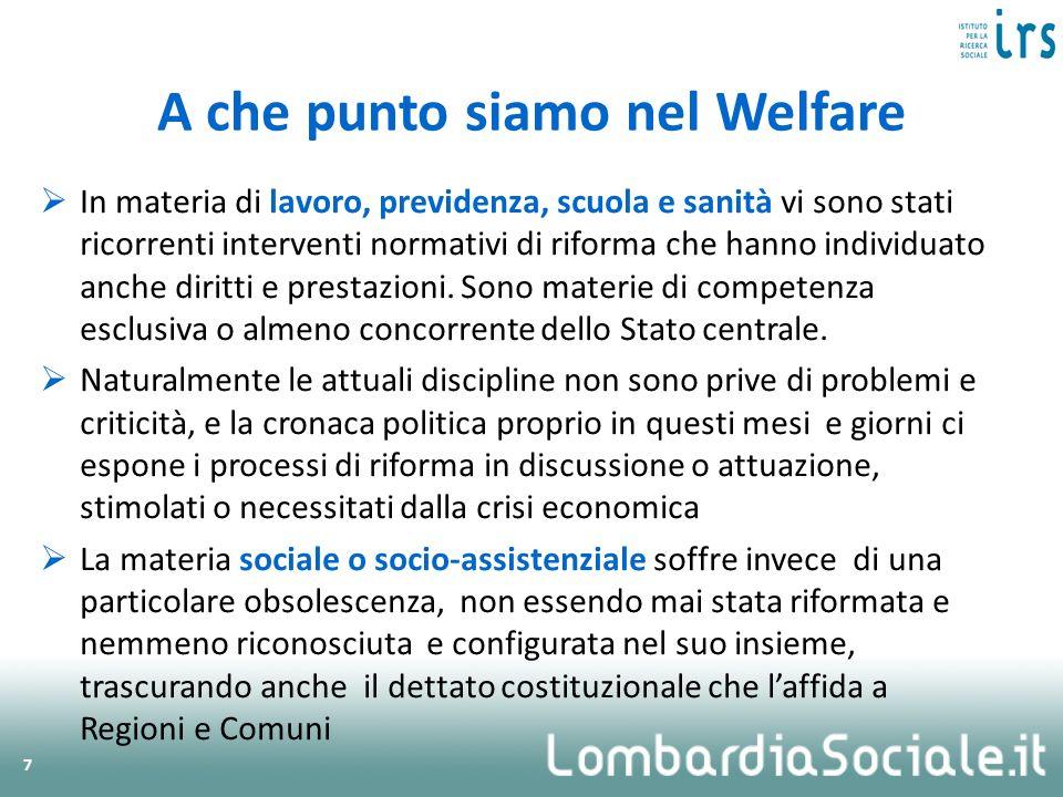 A che punto siamo nel Welfare