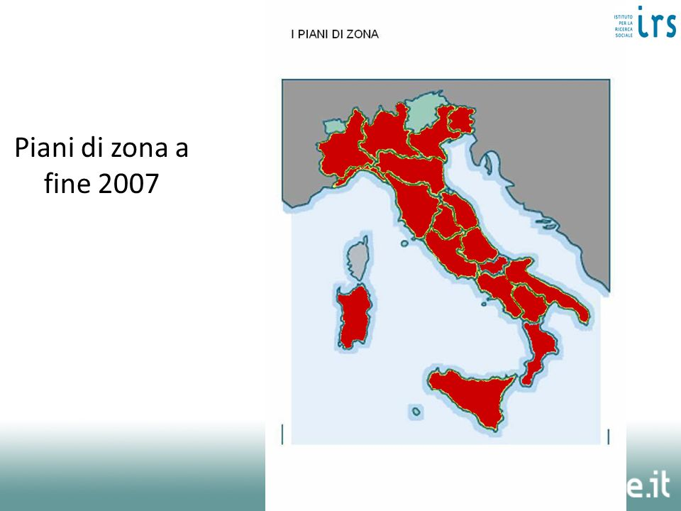 Piani di zona a fine 2007