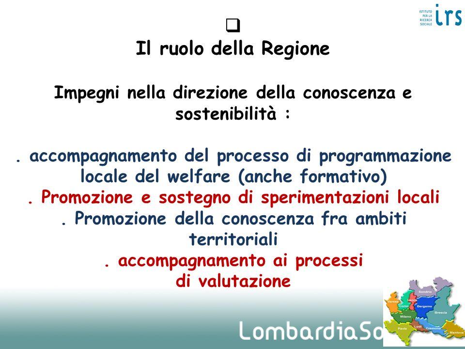 Il ruolo della Regione Impegni nella direzione della conoscenza e sostenibilità : .
