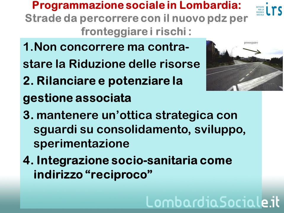 Programmazione sociale in Lombardia: