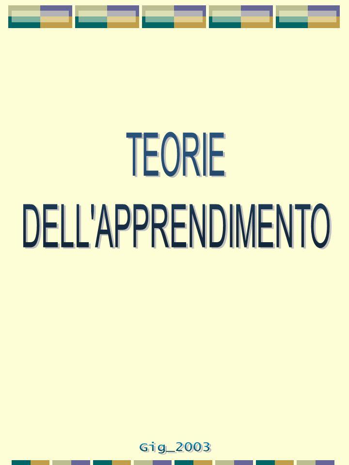 TEORIE DELL APPRENDIMENTO Gig_2003
