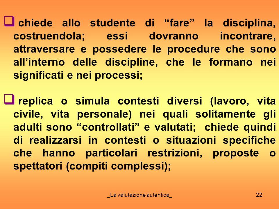 _La valutazione autentica_