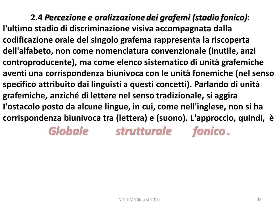 Globale strutturale fonico .