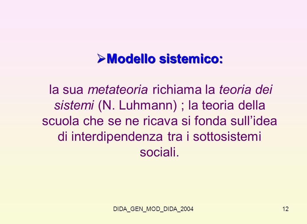 Modello sistemico: