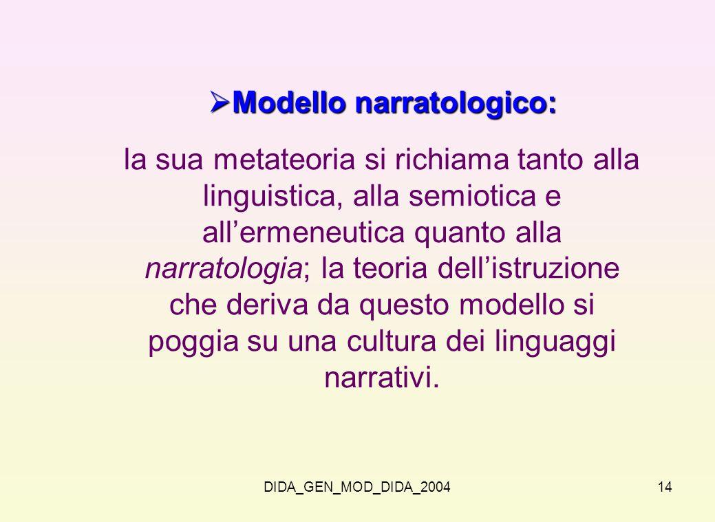Modello narratologico: