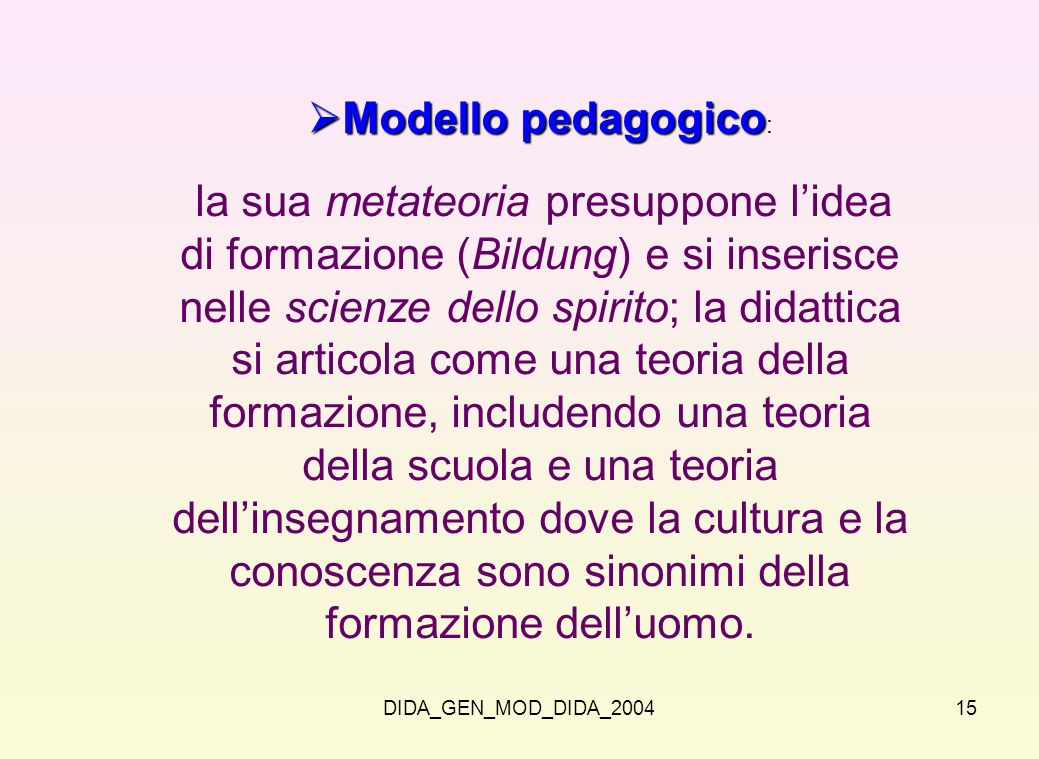 Modello pedagogico: