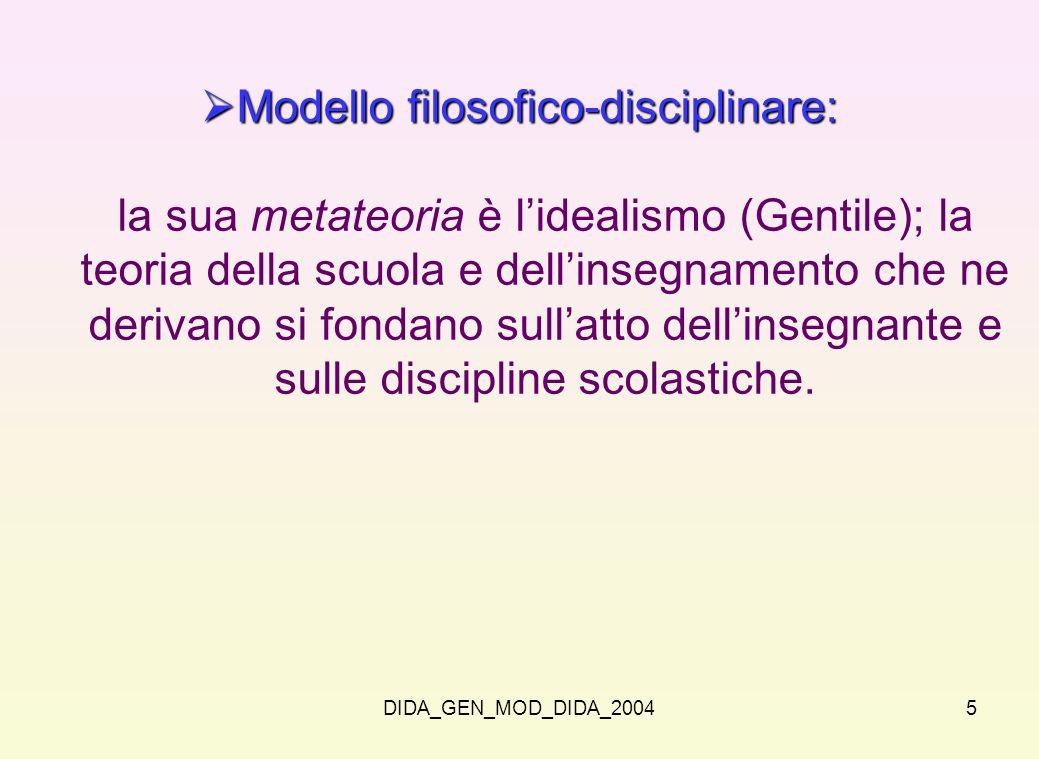 Modello filosofico-disciplinare: