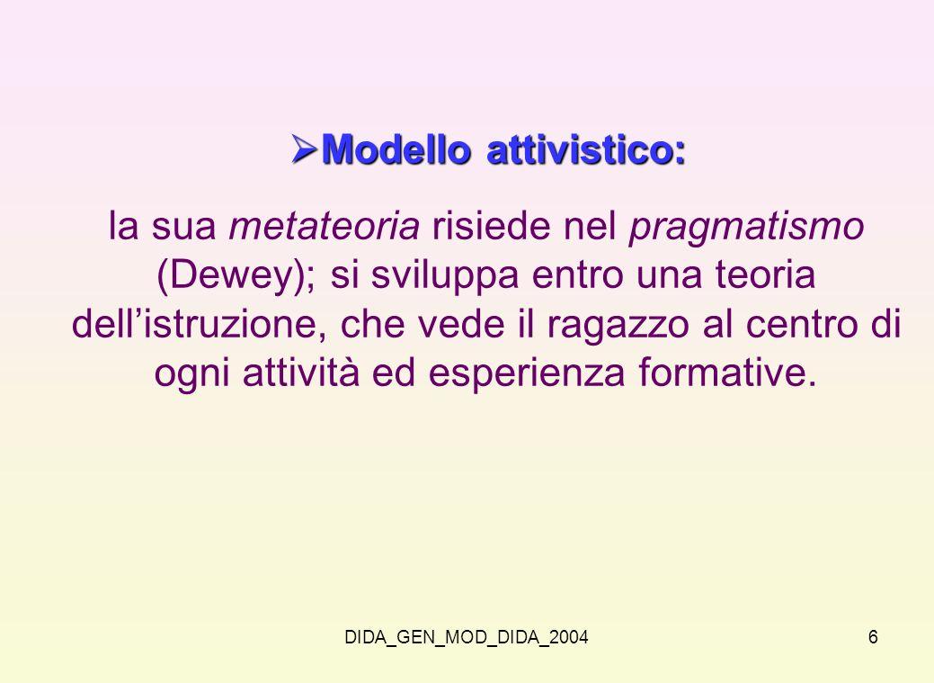 Modello attivistico: