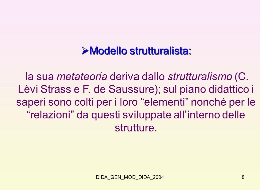 Modello strutturalista: