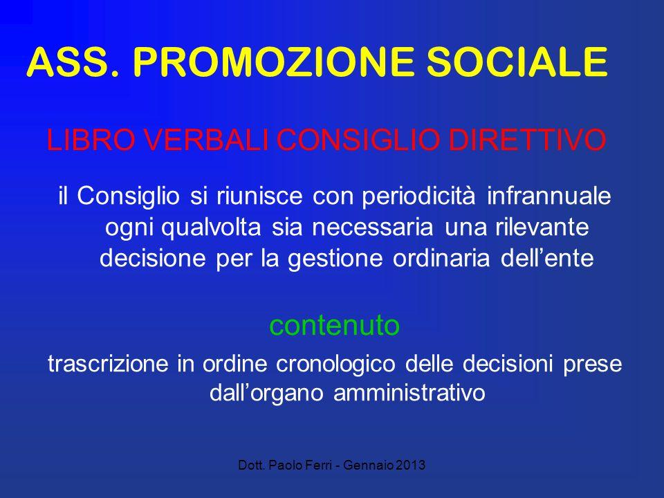 ASS. PROMOZIONE SOCIALE