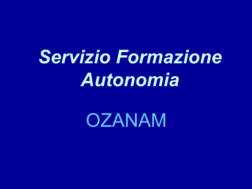 Servizio Formazione Autonomia