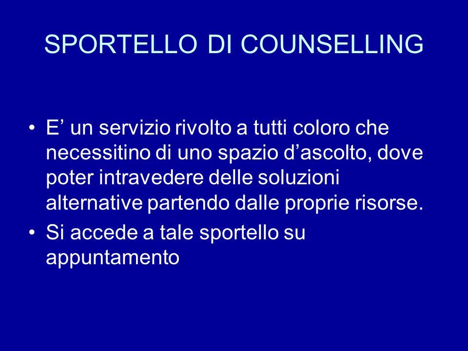 SPORTELLO DI COUNSELLING