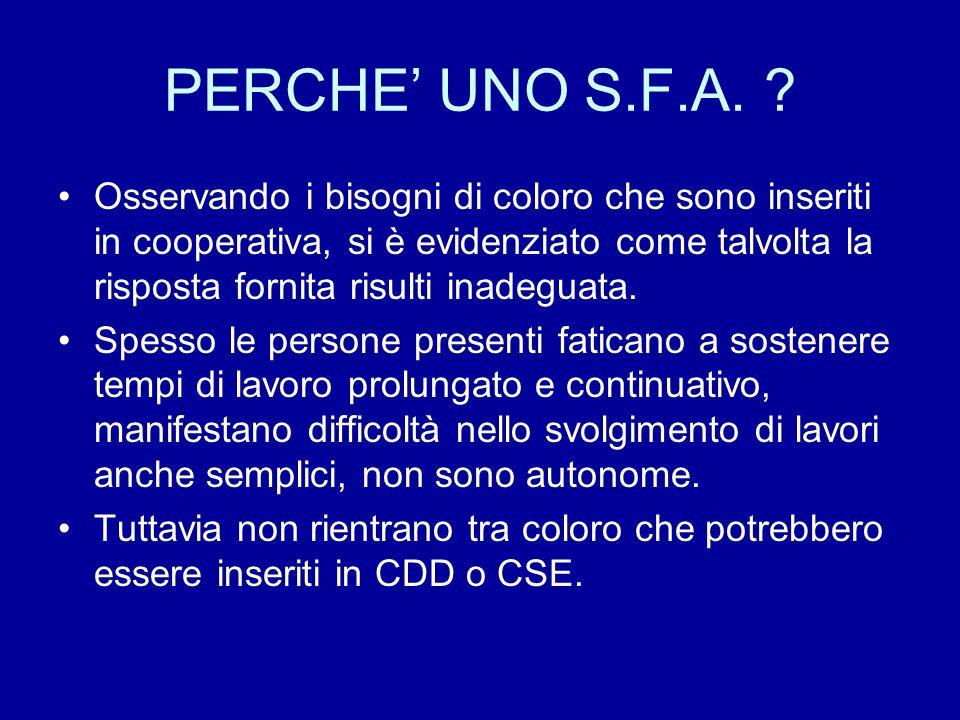 PERCHE' UNO S.F.A.