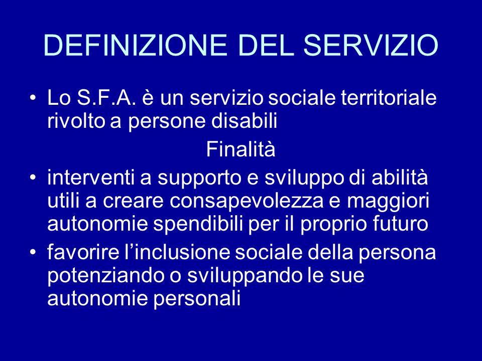 DEFINIZIONE DEL SERVIZIO