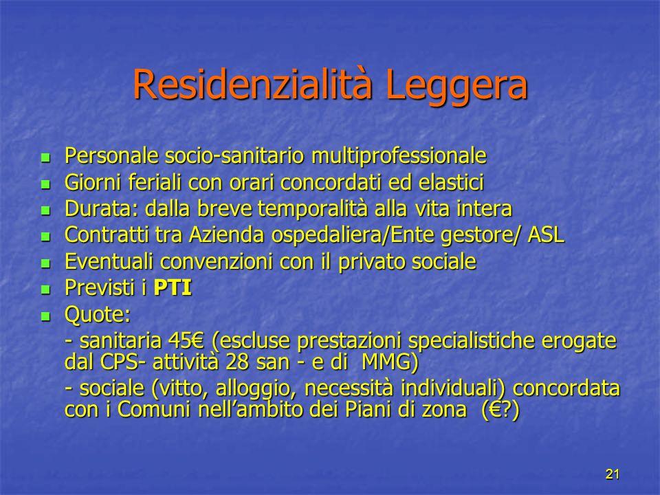 Residenzialità Leggera