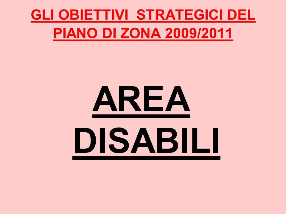 GLI OBIETTIVI STRATEGICI DEL PIANO DI ZONA 2009/2011