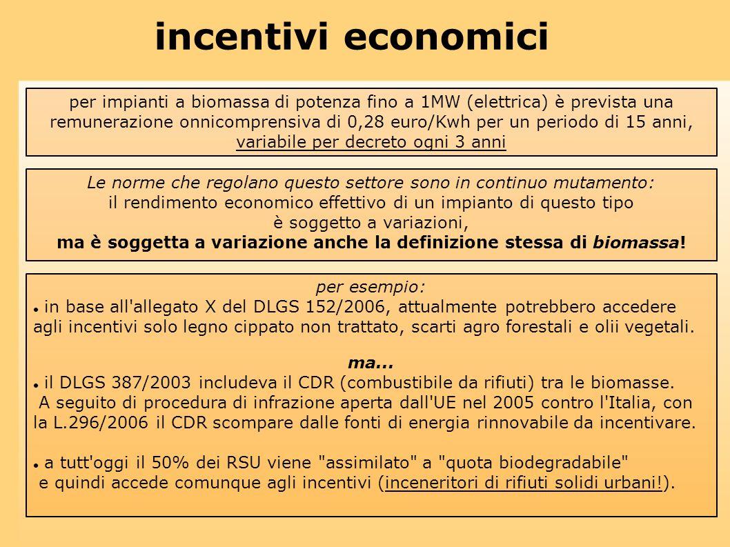 ma è soggetta a variazione anche la definizione stessa di biomassa!