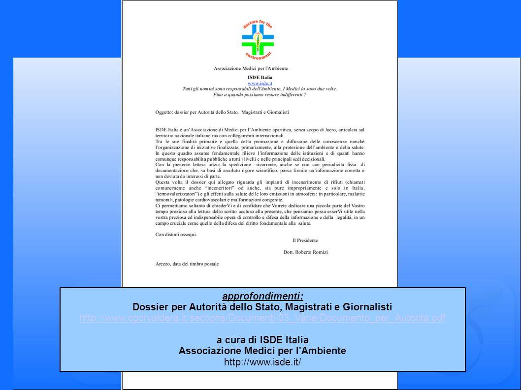 Dossier per Autorità dello Stato, Magistrati e Giornalisti