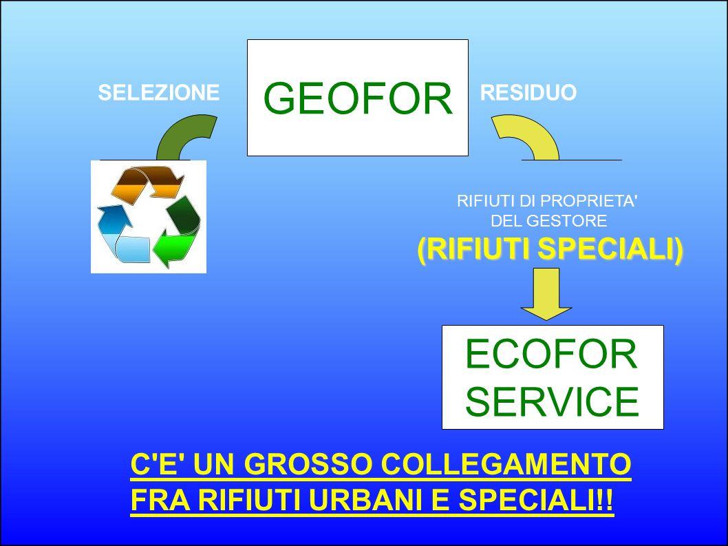 GEOFOR ECOFOR SERVICE (RIFIUTI SPECIALI) C E UN GROSSO COLLEGAMENTO