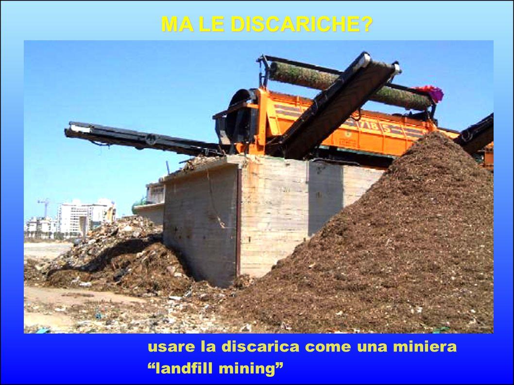 MA LE DISCARICHE usare la discarica come una miniera