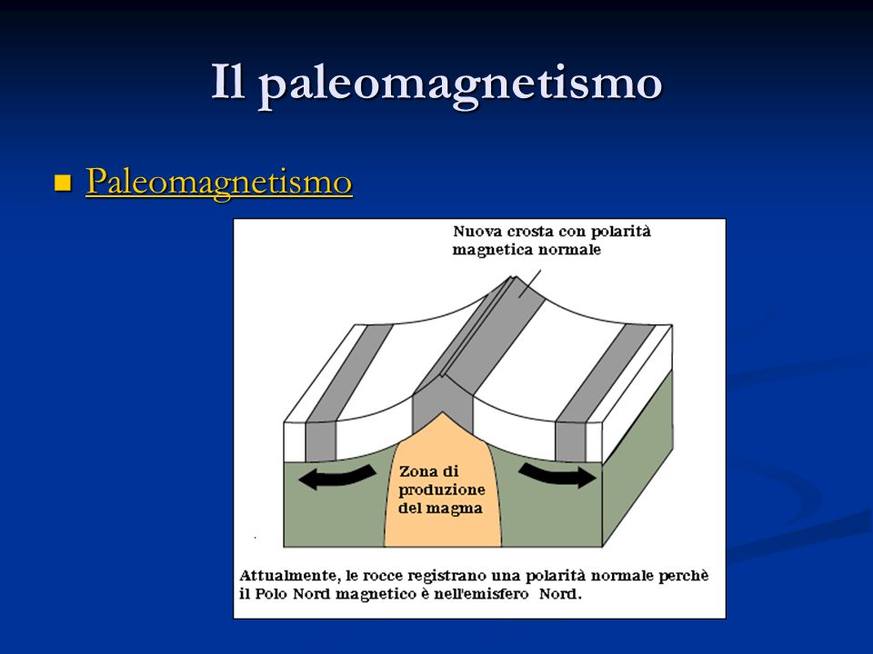 Il paleomagnetismo Paleomagnetismo