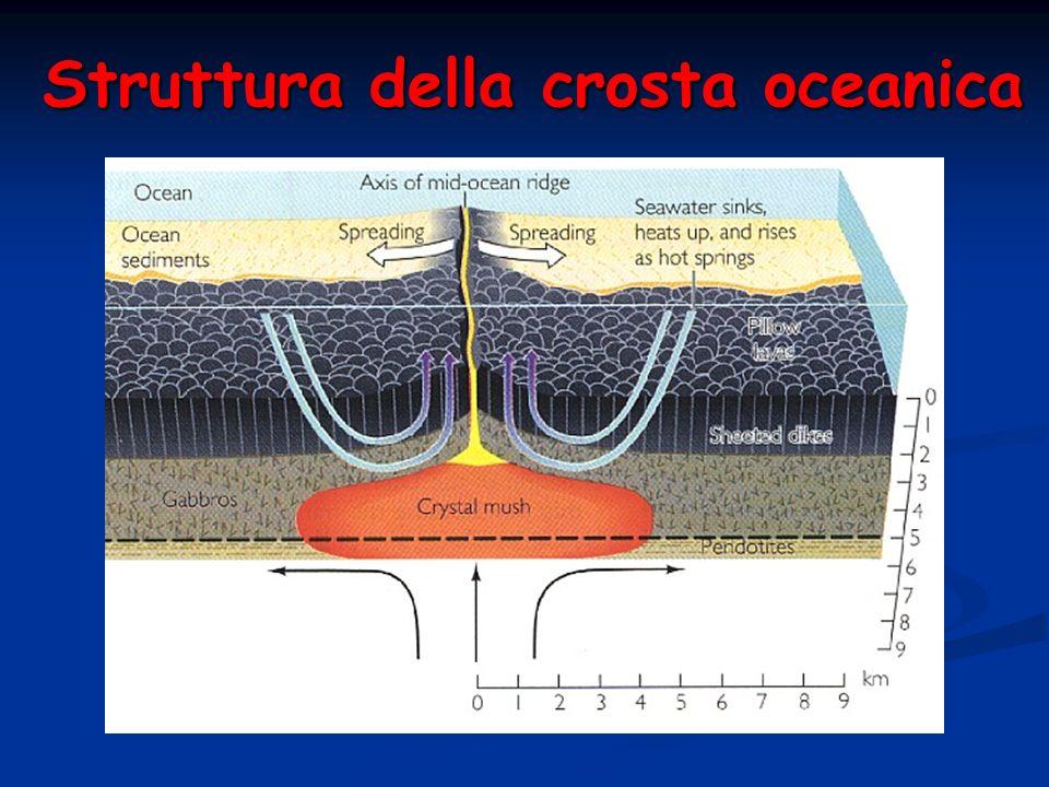Struttura della crosta oceanica
