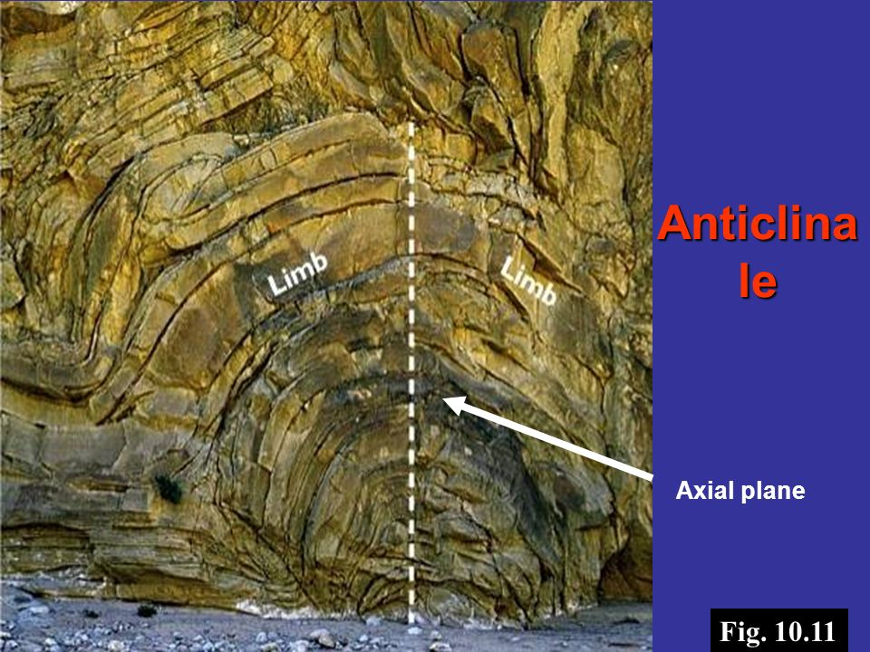 Anticlinale Axial plane Bill Evarts Fig. 10.11
