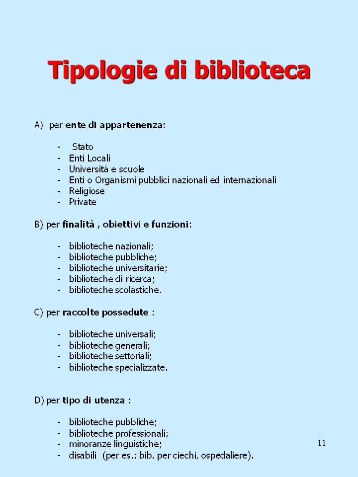 Tipologie di biblioteca